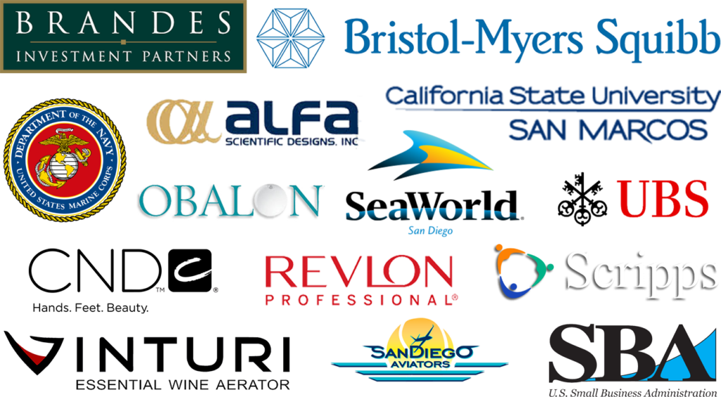Various business logos, Brands, Seaworld, CND,