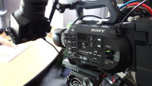 Sony 4k video camera, electronics, tripod