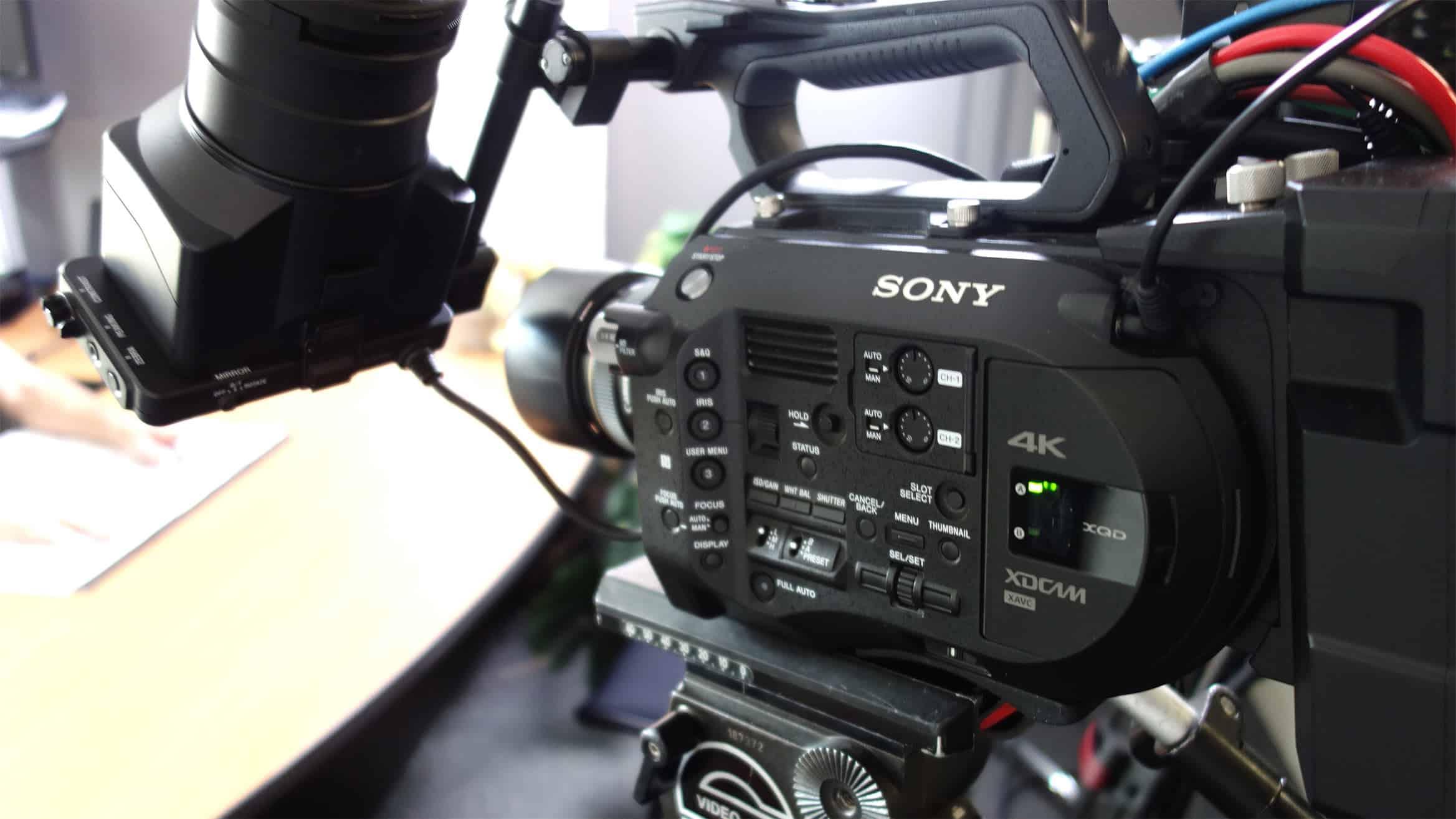 Sony 4k video camera, electronics, tripod