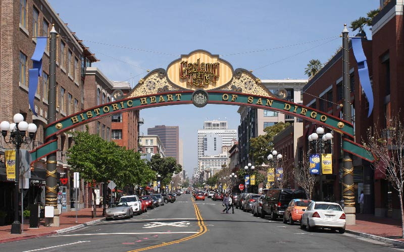San Diego Gaslamp District Sign