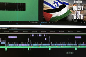 Visual depiction of video clips on a non-linear editing timeline